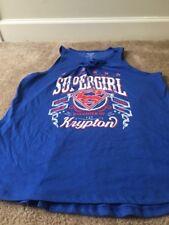 Superman Womens T-Shirt Sz Junior XL 15/17 Multi-Color Top Shirt Clothes