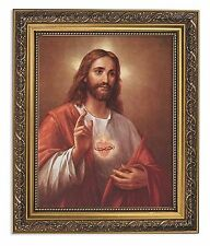 Sacred Heart of Jesus Print LaFuente (79-812) NEW Ornate 11x13 Frame Under Glass