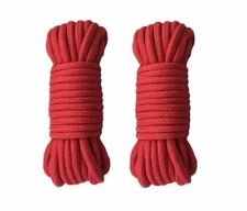 2pk 32ft Adult Soft Durable Cotton Rope Strap Japanese Rope Play Bondage Red