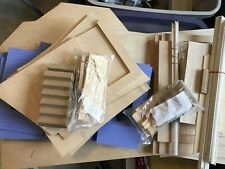 Large Lot of Dollhouse Building Supplies - Nosing, Stringer, Dormer Pack, Stairs
