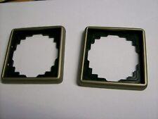 2 Stück Jung LS 990 1-fach Rahmen in bronze (alte Ausführung)