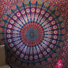 Peacock Mandala Tapestry Indian Wall Hanging Bohemian Dorm Decor Hippie Throw
