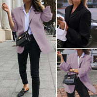 Mode Femme Manteau Blazer Casual en vrac Loose Boutons Manche Longue Loisir Plus