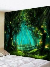Psychedelic Fairy Forest Tapestry Room Wall Hanging Hippie Bedspread Tapestries