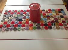 Vintage Yoyo Quilt 36x15 Table Runner