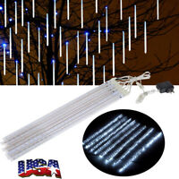 50cm 240LED Lights Meteor Shower Rain 8 Tube Xmas Snowfall Tree Outdoor Light US