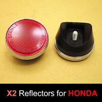 Honda S90 CL90 SL90 SL100 SL125 SL175 SL350 Red Front Fork Reflector Japan Pair