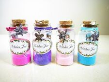 8 x Magic Fairy Glass Wishes Jar -Pixie Dust Magic Party Princess Mermaid Party