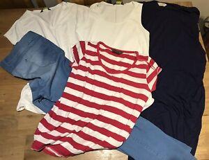 Maternity Clothes Bundle Size 18 L XL, Tshirts jeans Dresses