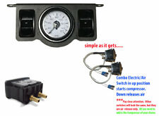 V Air Ride Suspension Dual Needle Air Gauge Panel 2 Paddle Switches Control