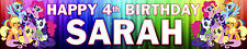 2 X MY LITTLE PONY  PERSONALISED BIRTHDAY BANNERS