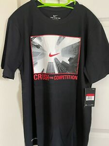 NWT Nike Crush The Competition Dri-Fit Tee Mens Large Black Short Sleeve