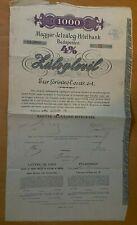Magyar Jelzalog-Hitelbank - Hungary - Budapest - 1000 - 4% - 1895 - Serie III