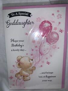 goddaughter birthday card / birthday card for goddaughter - 2 styles