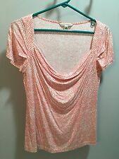 Pink and white Banana republic short sleeve shirt women's size M