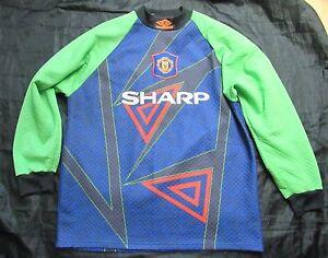 MANCHESTER UNITED Goalkeeper shirt UMBRO 1994-1996 SHARP Red Devils men size XL