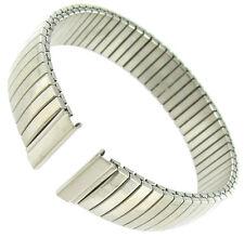 12mm Hirsch Twist-o-Flex Stainless Steel Plain Silver Tone Ladies Watch Band