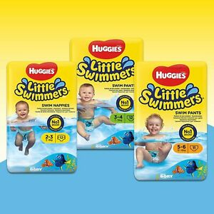 Huggies® Little Swimmers® - Sizes 2-3 & 3-4 (36 Pants) and Size 5-6 (33 Pants)