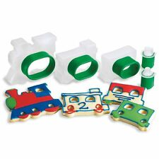 Cuisipro Snap Fit Cookie Cutters 5 Shapes Set nest Baking - TRAINS