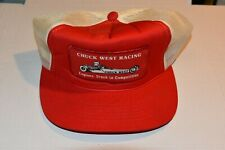 Chuck West Racing Engines Drag Patch Snapback Mesh Trucker Hat Vintage Ya
