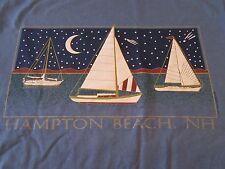 Vintage Hampton Beach, N.H. 1995 Sailing Moonlight T Shirt Size M (NWOT)