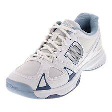 Wilson Rush Evo Women's Tennis Shoe - White/Light Blue - Authorized Dealer