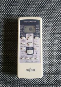 Mando Fujitsu Aire Acondicionado AR-RCD1C, RCD1E, RCE1C, RCC2J, RCC2J, RCE1E