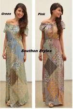 Rayon Long Asymmetric Dresses for Women