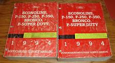 1994 Ford Bronco F-150 F-250 F-350 Super Duty Econoline Shop Service Manual Set