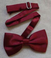 Nuevo Para Hombre Corbata de Moño Bowtie Ajustable Dickie vino de Borgoña