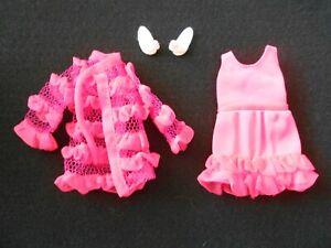 Vintage Barbie Francie  Doll SNAPPY SNOOZERS Darling Nightie/Robe &VHTF Slippers