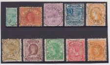 Stamps part set 1/2d to 1/- Victoria queen cancelled to order 22 March 1911