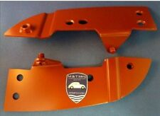 VW BEETLE CONVERTIBLE FRONT (HEADER) BOW PAIR OF MOUNTING PLATES 1968-72