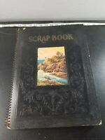 VTG Scrapbook With ~190 post and holiday cards