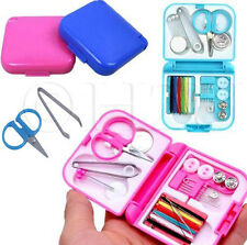 Mini Sewing Kit Case Needle Thread Tape Scissor Set Size Handcraft Travel Home