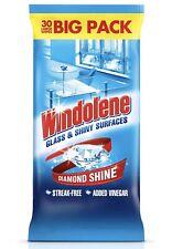Windolene Glass Cleaner Wipes, 2 x 30 Wipes