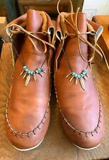 Woman Moccasins, Size 6 1/2 , Brown , Slightly Used, Worn One Time