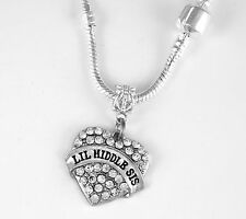 Lil Middle Sis Present Lil Middle Sis Lil Middle Sis Necklace Sister Gift chain