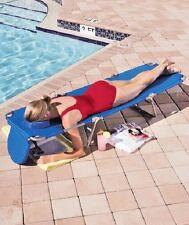 Ostrich Folding Chaise Lounge Beach Folding Camping deck Chair w/ Head Pillow