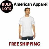 Bulk Lot 24 American Apparel Men's White T-Shirt Cotton Tees Fine  2001W S-XL