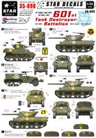 Star Decals 1/35 EE.UU. 601st Tanque Destructor Nuevo en Italy #STAR35898