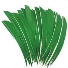 50pcs Archery Fletches - Green Water Drop 5inch RW Arrow Feathers