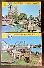 Lot Of 2 Vintage Tuco Picture Puzzle's Interlocking Pieces River Seine & Denm