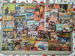 500 PIECE JIGSAW PUZZLE GIBSONS SPIRIT OF THE SIXTIES 60S TWIGGY BEATLES DR WHO