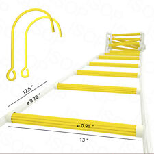 Fire Window Escape Rope Ladder for 3 Story Homes with Hooks Safety Ladders 25ft