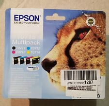 NEW BOXED EPSON T0715 MULTI INK CARTRIDGES BLACK YELLOW MAGENTA CYAN 2021 EXPIRY
