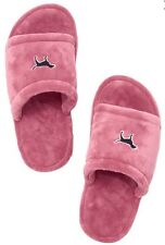 Victorias Secret Pink Dog GRAPHIC Super Soft Mule Slippers NWT M 7 - 8