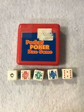The Original Pocket Poker Dice Game Travel Mini Hard Plastic Case