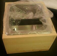 Coffee Knock Box Espresso Bin Knockbox Set Wood Stainless Steel
