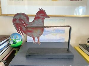 Early 20th C. American Folk Rooster Weathervane San Francisco Antique